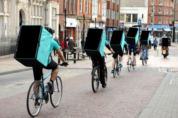 delivery guys by bike
