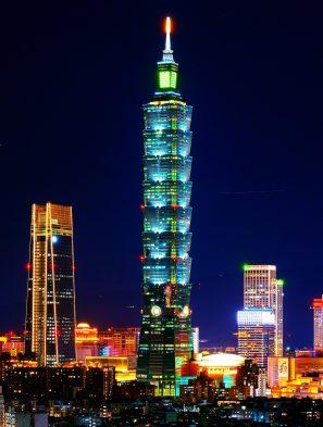 taipei 101 tower night