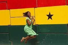 ghana flag woman dancing