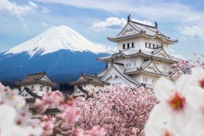 japan fuji mount temple