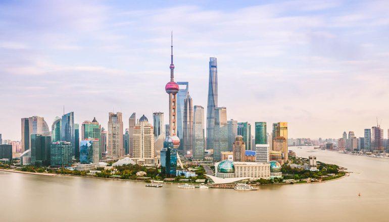 shanghai building coast chinese sea
