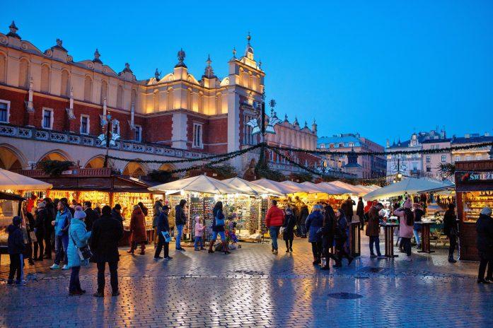 poland krakow christmas market