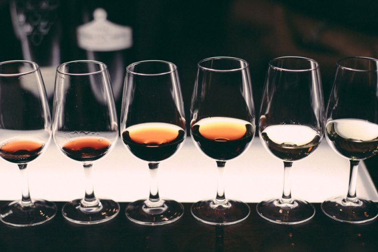 glasses of fortified wines