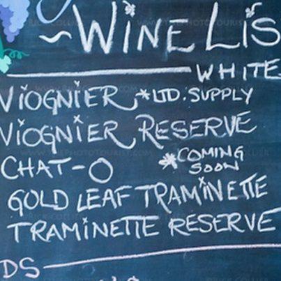 restaurant wine list on board