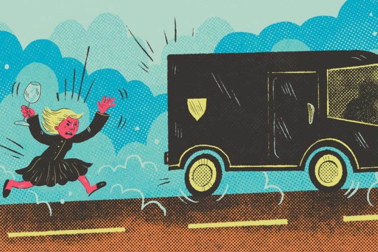 camion d'expédition de vin